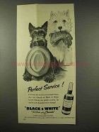 1956 Black & White Scotch Ad - Perfect Service