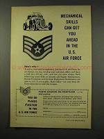 1956 U.S. Air Force Ad, Mechanical Skills Get You Ahead