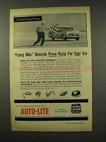 1956 Auto-Lite Parts Ad - NASCAR Flying Mile Records
