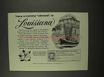 1956 Louisiana Tourism Ad - Take a Holiday Abroad