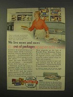 1956 Reynolds Wrap Ad - Live More Out of Packages