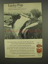 1956 Gaines Dog Food Ad - Lucky Pup