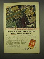 1956 Shell  X-100 Motor Oil Ad - Give More Horsepower