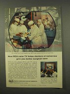 1956 RCA Television Ad - Helps Doctors of Tomorrow