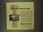1956 Johnson & Higgins Insurance Ad - Can Bank on Them