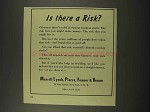 1956 Merrill Lynch Broker Ad - Is There a Risk?