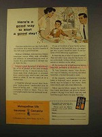 1956 Metropolitan Life Insurance Ad - Start a Good Day