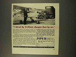 1956 Piper Tri-Pacer Plane Ad - Cheaper Than by Car