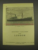 1956 New Zealand Line Cruise Ad - Sailings From London