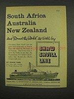 1956 Shaw Savill Line Cruise Ad - South Africa