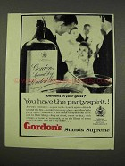 1956 Gordon's Gin Ad - You Have The Party Spirit