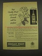 1956 Noilly Prat Vermouth Ad - French Will Be Perfect
