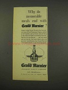 1956 Grand Marnier Liqueur Ad - Memorable Meals End