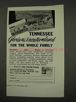 1956 Tennessee Tourism Ad - Glorious Vacationland