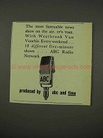 1956 ABC Radio Ad - Most Listenable News Show