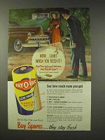 1949 Ray-o-vac Batteries Ad - When You Need It