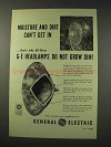 1949 General Electric Headlamps Ad - Moisture and Dirt
