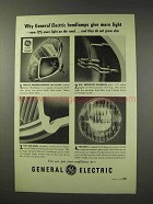 1949 General Electric Headlamps Ad - Give More Light
