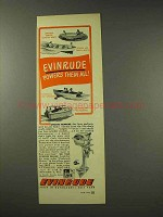 1949 Evinrude Outboard Motor Ad - Powers Them All
