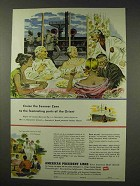 1949 American President Lines Cruise Ad - Summer Zone