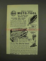 1949 Dremel Moto-Tool Ad - Own a Famous Moto-Tool