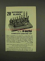 1949 X-Acto No. 78 Complete Carving Set Tool Ad