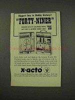 1949 X-Acto Forty-Niner Set of Hobby Knives Tool Ad