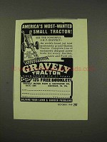 1949 Gravely Tractor Ad - America's Most Wanted