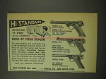 1949 High Standard Model G-E, G-B, H-DM Pistol Ad
