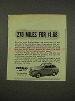 1949 Crosley Sedan Car Ad - 270 Miles for $1.68