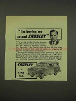 1949 Crosley Car Ad - I'm Buying My Second