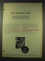 1948 Warner & Swasey Machine Tools Ad - Americans Only