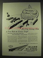 1948 In land Hi-Steel Ad - Giving Him a Free Ride?
