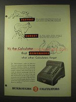 1948 Burroughs Calculators Ad - Fastest Surest