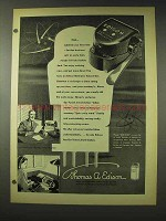 1948 Edison Electronic Voicewriter Ad - Time