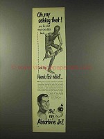 1948 Absorbine Jr. Ad - Oh, My Aching Feet!
