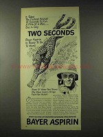 1948 Bayer Aspirin Ad - Fastest Animal 10 Seconds