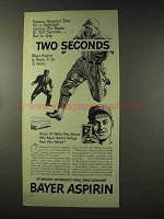 1948 Bayer Aspirin Ad - Ballplayer Circling the Bases