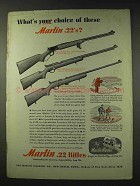 1948 Marlin Model 39-A, 81-DL, 80-DL Rifle Ad