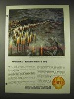 1948 Shell Oil Ad - Fireworks 300,000 Times a Day