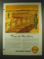 1948 Shell Oil Ad - Tropical Marathon
