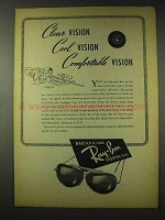 1948 Ray-Ban Shooting Glasses Ad - Clear Vision