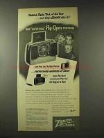 1948 Zenith Universal Pop-Open Portable Radio Ad