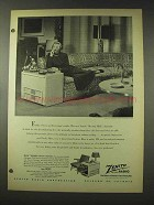 1948 Zenith Beveryly Hills Chairside Radio Ad