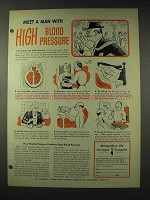 1948 Metropolitan Life Insurance Ad - Blood Pressure