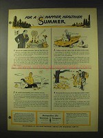 1948 Metropolitan Life Insurance Ad - Happier Summer