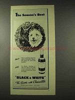 1948 Black & White Scotch Ad- The Season's Best