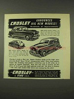 1948 Crosley DeLuxe Sedan, Station Wagon Car Ad