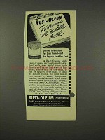1948 Rust-Oleum Paint Ad - Rustproofs Rustable Metals