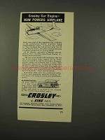 1948 Crosley Station Wagon Ad - Engine Powers Airplane